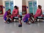 Bà bầu - Dân mạng mê mẩn 'soái ca' cắt móng chân cho vợ bầu