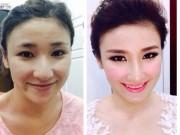 Cô dâu Việt 'biến hình' trong ngày cưới nhờ trang điểm