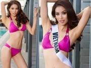 """Thời trang - Phạm Hương sexy """"từng centimet"""" tại hậu trường chụp bikini"""