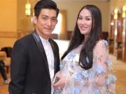Làng sao - Phi Thanh Vân khoe bụng bầu 8 tháng bên chồng