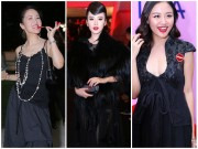 Thời trang - Sao mặc xấu: Sao Việt già chát vì diện đồ đen diêm dúa