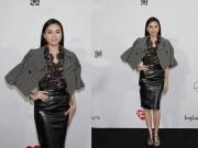 Thời trang - Ngô Thanh Vân mặc kín đáo đi xem thời trang