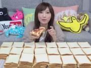 Clip Eva - Cô gái Nhật Bản ăn hết 100 lát bánh mỳ cùng lúc