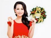 Làng sao - HH quý bà Sương Đặng đẹp nồng nàn sắc đỏ đón Noel