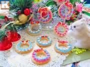 Bánh quy vòng nguyệt quế đẹp lung linh đón Giáng sinh