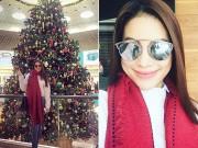 Làng sao - Phạm Hương rạng rỡ đi mua sắm ở Mỹ sau cuộc thi HHHV