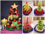 Bếp Eva - Những cách trang trí hoa quả, bánh kẹo hình cây thông Noel cho bé