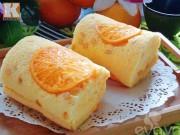 Bánh bông lan cuộn cam tươi ngon miễn chê, ăn là mê