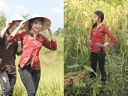 Thời trang - Hotgirl Project Runway hóa thôn nữ trên cánh đồng
