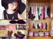 Làm mẹ - Bé gái Sài Gòn sở hữu tủ quần áo hàng trăm món tuyệt đẹp
