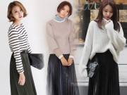 Thời trang - Mách bạn cách mặc váy xếp ly tuyệt đẹp giữa trời đông lạnh giá