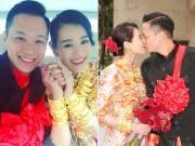 Làng sao - Hồ Hạnh Nhi đeo vàng nặng trĩu tay trong đám cưới