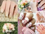 Làm đẹp - Những mẫu nail cô dâu 2016 nàng nhìn là muốn cưới