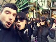 Làng sao - Hà Anh và chồng chưa cưới nhí nhảnh ở London