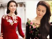 Làng sao - MC Thanh Mai rạng rỡ diện áo dài đón xuân