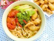 Bếp Eva - Bánh đa cá rô thơm ngon ấm bụng