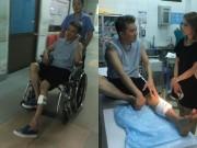 Làng sao - Mr Đàm nhập viện khâu 6 mũi vì tai nạn khi luyện tập cho liveshow
