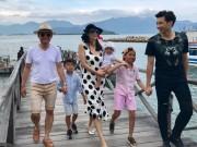 Làng sao - Hoa hậu Hà Kiều Anh hạnh phúc bên chồng và 4 con sau gần 10 năm ngày cưới