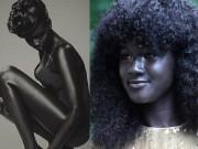 Làm đẹp - Kỳ lạ cô gái bỗng hot khắp mạng xã hội vì có làn da đen nhất thế giới
