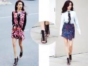 Thời trang - Chỉ một đôi giày nhưng Ái Phương có thể phối với 3 set đồ cá tính liên tục.