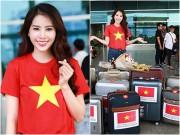 Nam Em gây chú ý với 11 valy hành lý tại sân bay