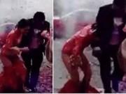 Clip Eva - Bắn pháo hoa đám cưới khiến cô dâu sợ hãi tụt cả váy