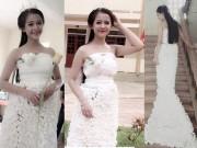 Thời trang - Váy cưới từ 3.000 bông hoa giấy giá 200 ngàn đồng gây sốt mạng xã hội
