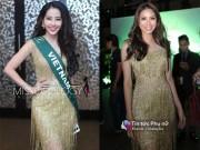 Nam Em gây chú ý khi diện lại váy của Phạm Hương tại Miss Earth