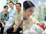 Làng sao - Hồng Quế đã sinh con gái đầu lòng, được Ngọc Hân và bố mẹ túc trực