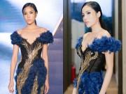 Thời trang - HH Kỳ Duyên lạnh lùng mặc váy khoét sâu gợi cảm trên sàn catwalk