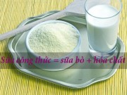 Tin tức - Thực hư thông tin sữa công thức = sữa bò + hóa chất