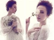 Thời trang - Angela Phương Trinh lấy hoa che ngực khi chụp ảnh thời trang