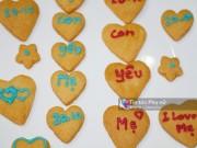 Bánh quy trái tim dành tặng mẹ ngày 20-10