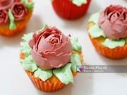 Bếp Eva - Làm bánh cupcake hoa hồng tặng mẹ 20-10