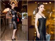 Sao Việt - Quỳnh Thy, Jolie Nguyễn đọ độ gợi cảm với váy xuyên thấu