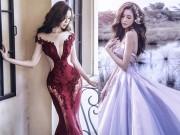 """Thời trang - Elly Trần khoe vòng 1 """"nữ thần"""" trong loạt váy cưới lộng lẫy"""