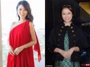Thời trang - Lâm Tâm Như hơn hẳn bạn thân Triệu Vy khi chọn đồ bầu