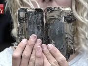 iPhone 7 phát nổ khiến ô tô bị hư hại nặng nề