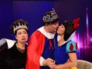 Làng sao - Thúy Nga - Chí Tài hôn nhau ngay trên bàn giám khảo