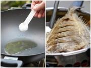 Bếp Eva - Điều bất ngờ khi bỏ muối vào chảo cá rán không phải ai cũng biết