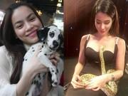Dễ thương lẫn kinh dị khi sao Việt ôm ấp cún, trăn rắn như phụ kiện