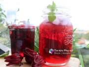 Bếp Eva - Tự ngâm nước hoa atiso đỏ giải khát