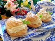Bếp Eva - Ngon đã miệng với bánh su kem nhân kem sầu riêng
