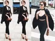 """Thời trang - Ngọc Trinh tự tin """"đánh bật"""" gái Hàn khi dạo phố Seoul"""