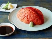 Sushi cá hồi hình bộ não Halloween: Ăn thôi chứ sợ gì!