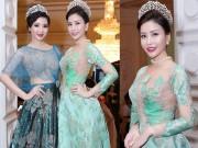 Thời trang - Hoa hậu Lam Cúc khoe sắc bên hoa hậu Giáng My