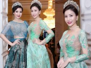 Hoa hậu Lam Cúc khoe sắc bên hoa hậu Giáng My