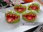 Nháy mắt là xong táo tráng miệng hình mặt quỷ cho Halloween