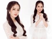 Tin tức thời trang - Hoa hậu Áo dài Biển Dương Kim Ánh đẹp hút hồn với váy trắng tinh khiết