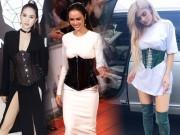 Thời trang - Ngọc Trinh, Ngọc Anh lại chạy theo mốt mặc áo corset độc - lạ